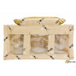 Panier 3x 250g abeille