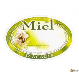 Etiquette ovale acacia x1000